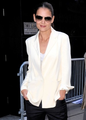 Katie Holmes in Tight Pants at 'Good Morning America' in NYC