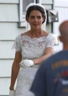Katie Holmes Photos: in a Wedding Dress filming Miss Meadows -02
