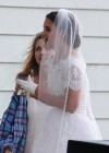 Katie Holmes Photos: in a Wedding Dress filming Miss Meadows -06