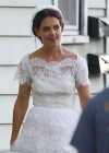 Katie Holmes Photos: in a Wedding Dress filming Miss Meadows -09