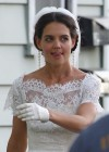 Katie Holmes Photos: in a Wedding Dress filming Miss Meadows -10