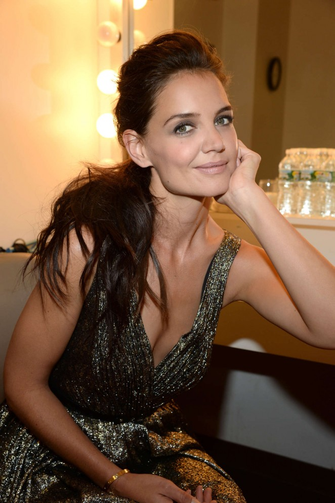 Katie Holmes at Backstage - Late Show with David Letterman in New York