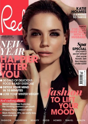 Katie Holmes - Red Magazine Cover (February 2015)