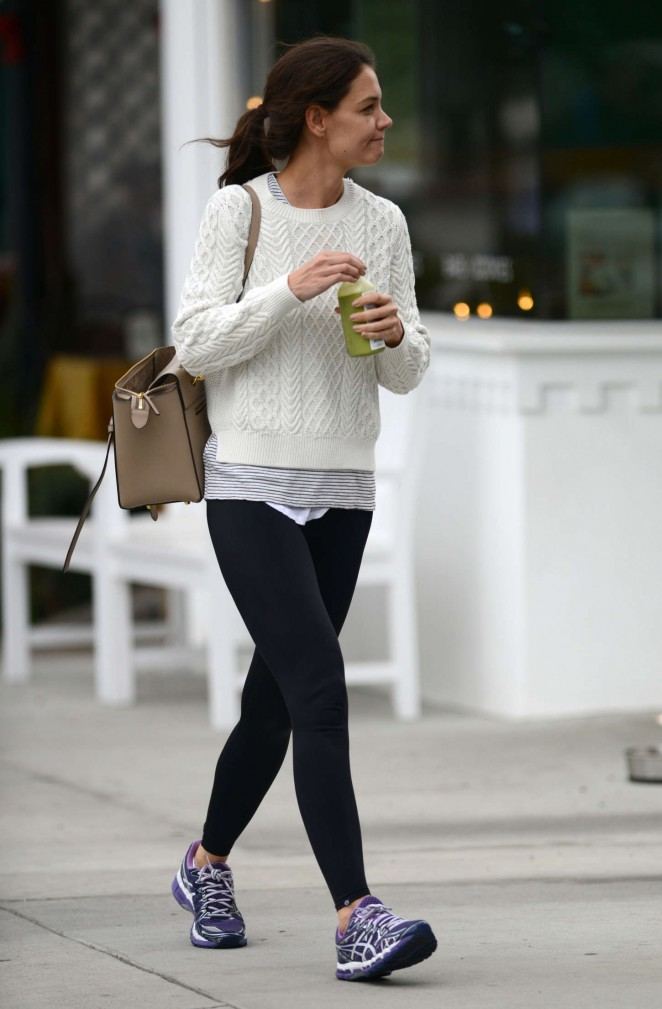Katie Holmes in Leggings Out in LA