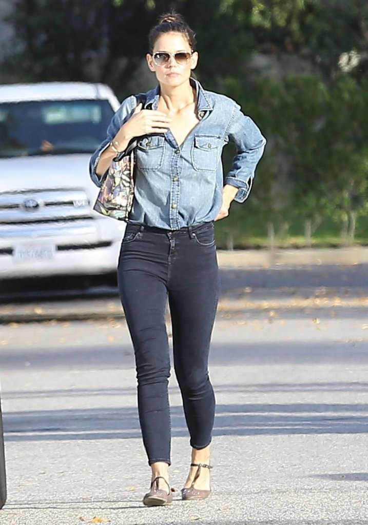 Katie Holmes Street Style Out In Los Angeles Gotceleb