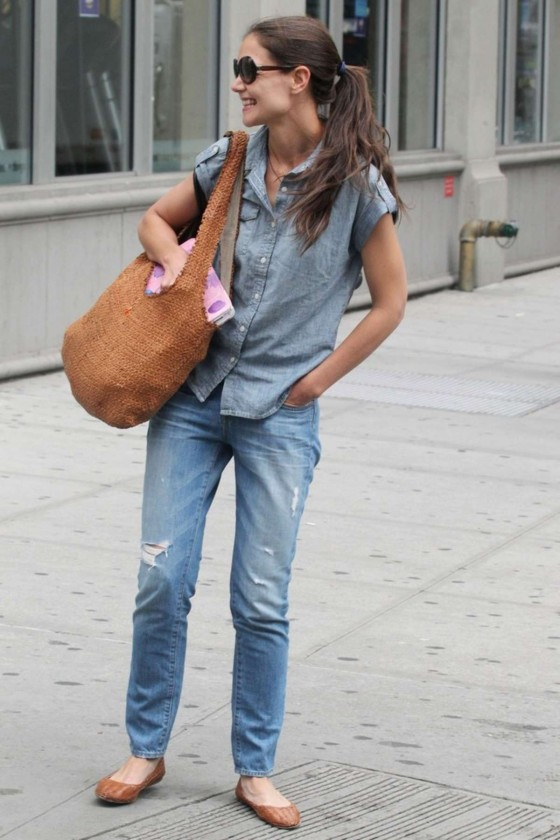 Katie Holmes 2012 : Katie Holmes – in jeans, Out in New York City-07