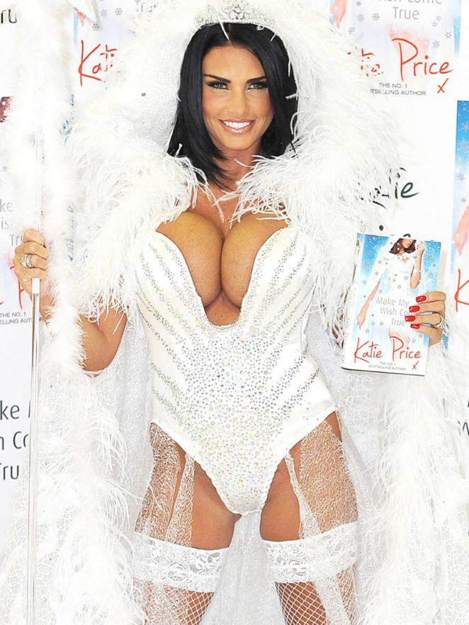 Katie Price attends a photocall to launch her new novel 'Make My Wish Come True' at The Worx in London