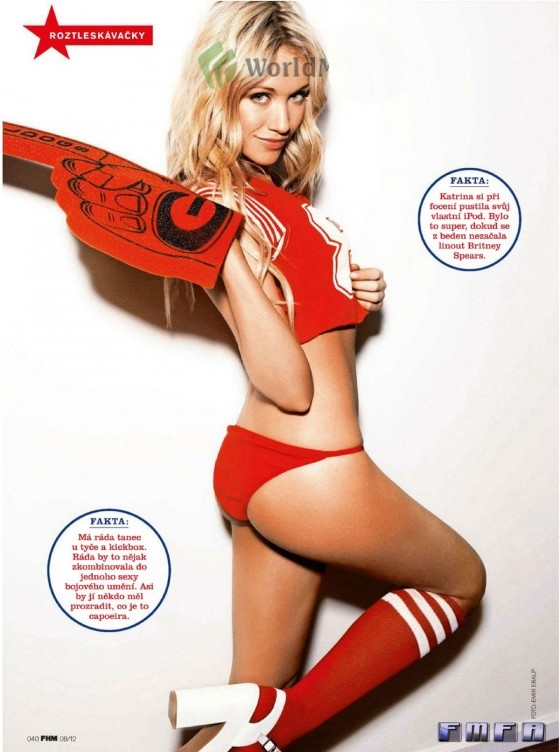 Katrina Bowden - Hot in red in FHM Magazine 2012