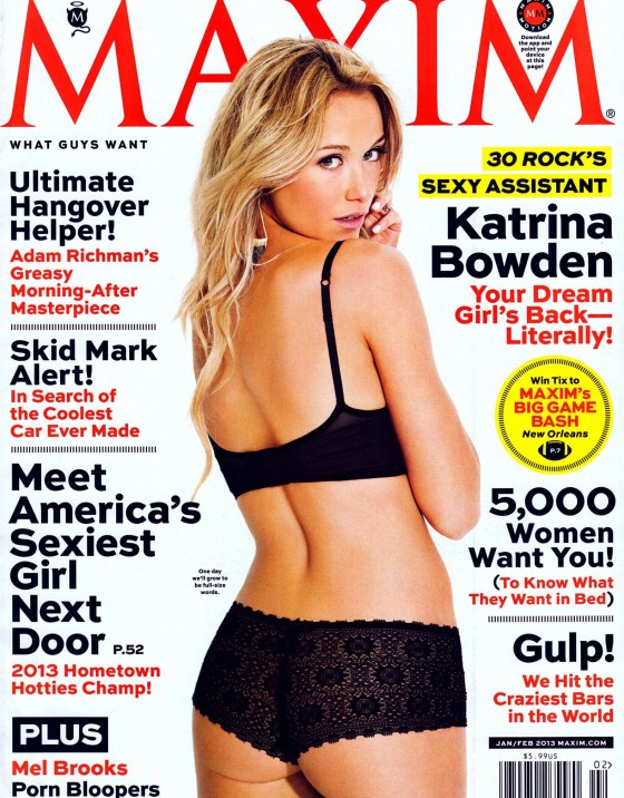 Katrina Bowden – Maxim USA January/February 2013
