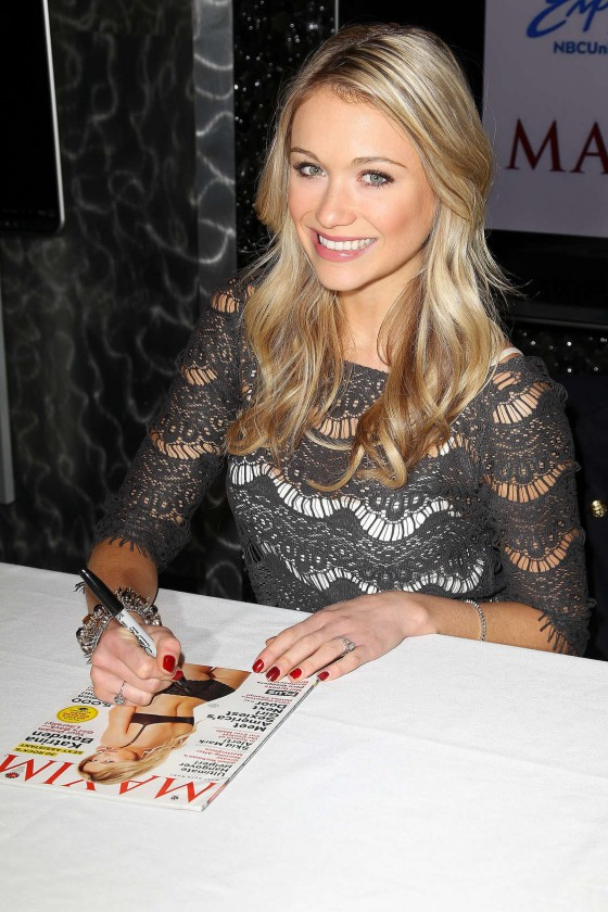 Katrina Bowden Signing copies of Maxim Magazine Cover in NY