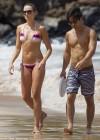 Katrina Bowden Bikini Photos: 2013 Hawaii -01