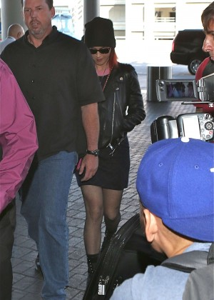 Katy Perry in Mini Skirt at LAX -09