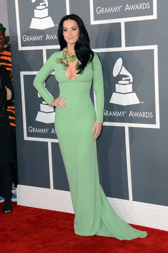 Katy Perry in a very tight dress at the Grammy Awards in LA-16