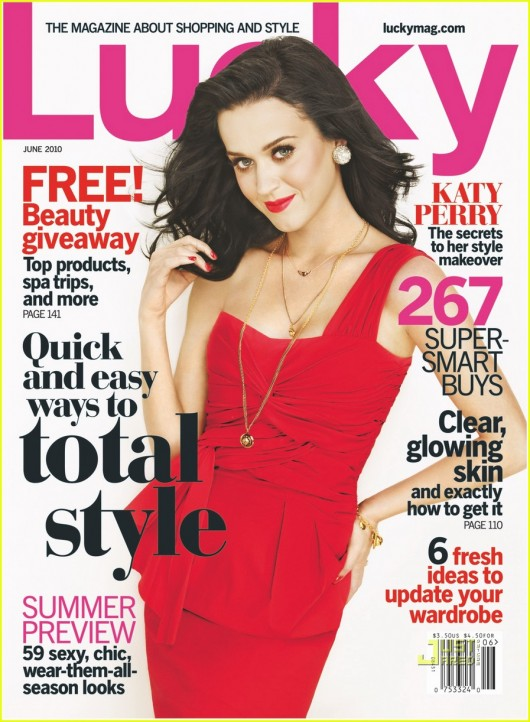Katy Perry in 'Lucky' Magazine – June 2010 – scans