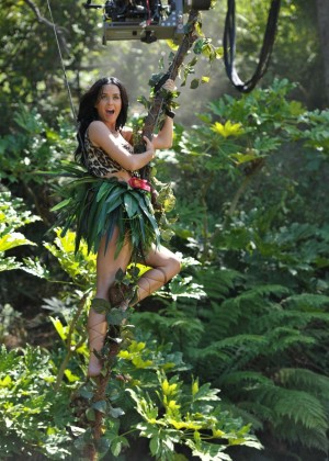 Katy Perry - Roar Music Video (Behind The Scenes Promo Pics)