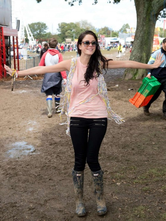 Kaya Scodelario at Seaclose Park, Newport