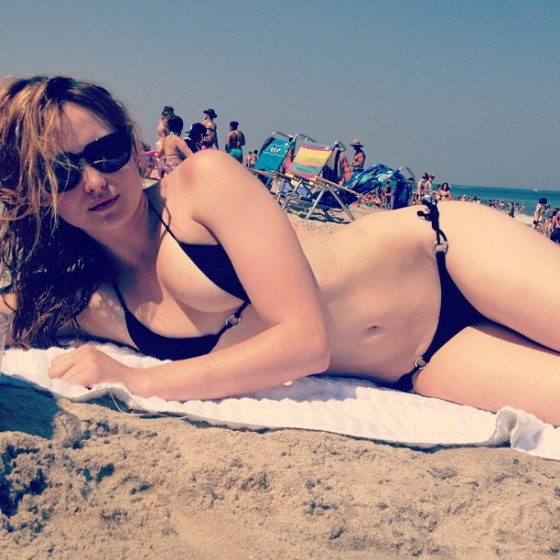 Kaylee DeFer - Bikini on the beach - Twitter pic
