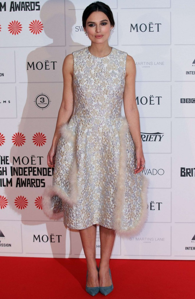 Keira Knightley: 2014 The Moet British Independent Film Awards-08