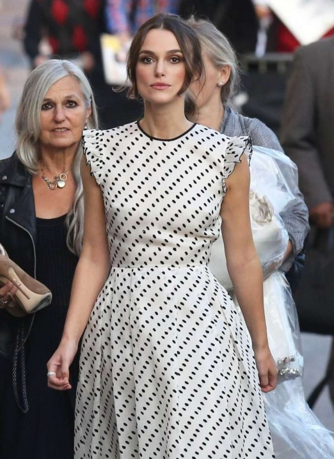 Keira Knightley - Arriving at 'Jimmy Kimmel Live!' in Hollywood
