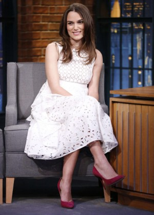 Keira Knightley - Late Night with Seth Meyers in New York City