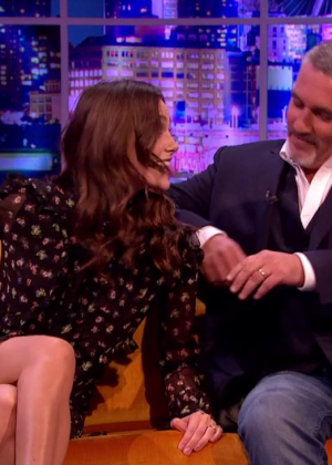 Keira Knightley at The Jonathan Ross Show in London