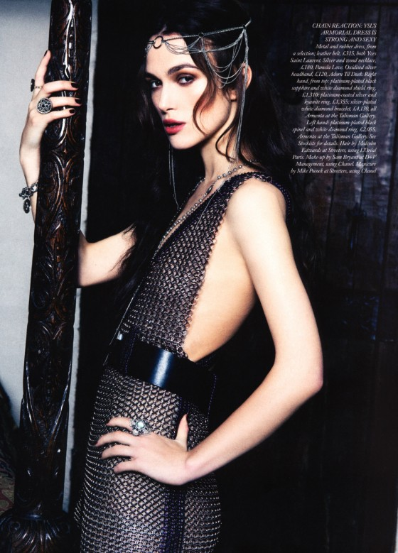 Keira Knightley in Harper's Bazaar Magazine issue
