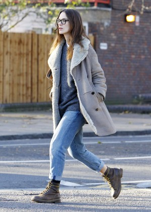 Keira Knightley in Jeans out in London