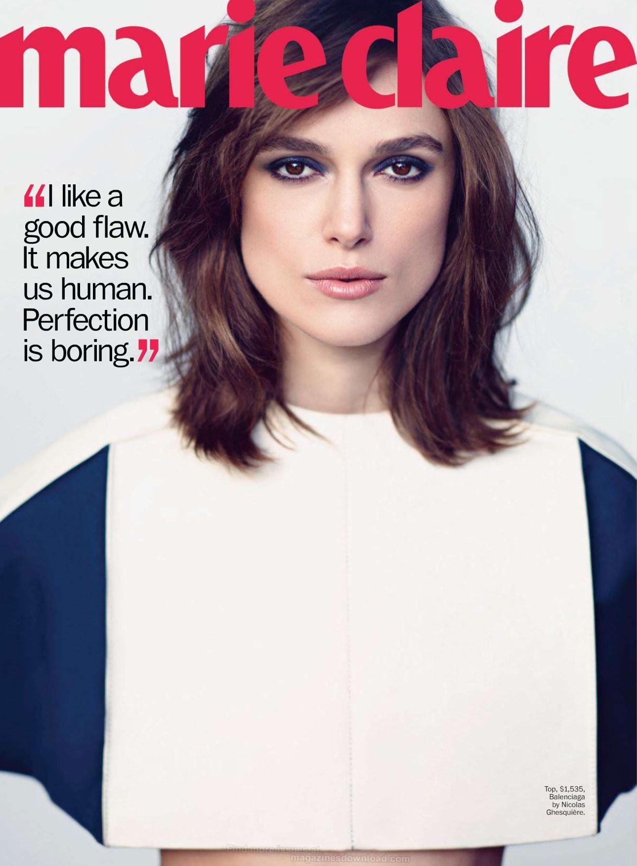 Keira Knightley 2013 : Keira Knightley – Marie Claire Magazine 2013-04
