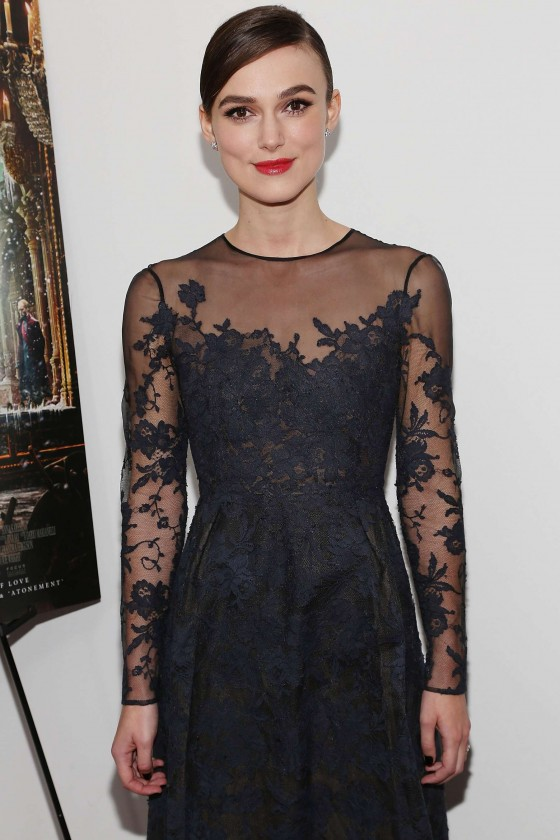 Keira Knightley at Premiere Anna Karenina in NY