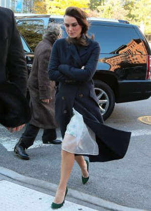 Keira Knightley - Returns to her hotel in NYC