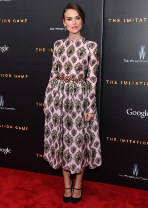 Keira Knightley - 'The Imitation Game' Premiere in New York