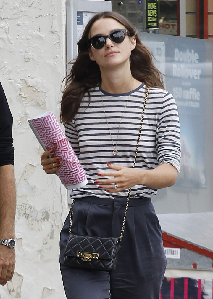 Keira Knightly out shopping in North London
