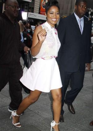 "Keke Palmer in Mini Dress at ""Good Morning America"" Studios in NYC"