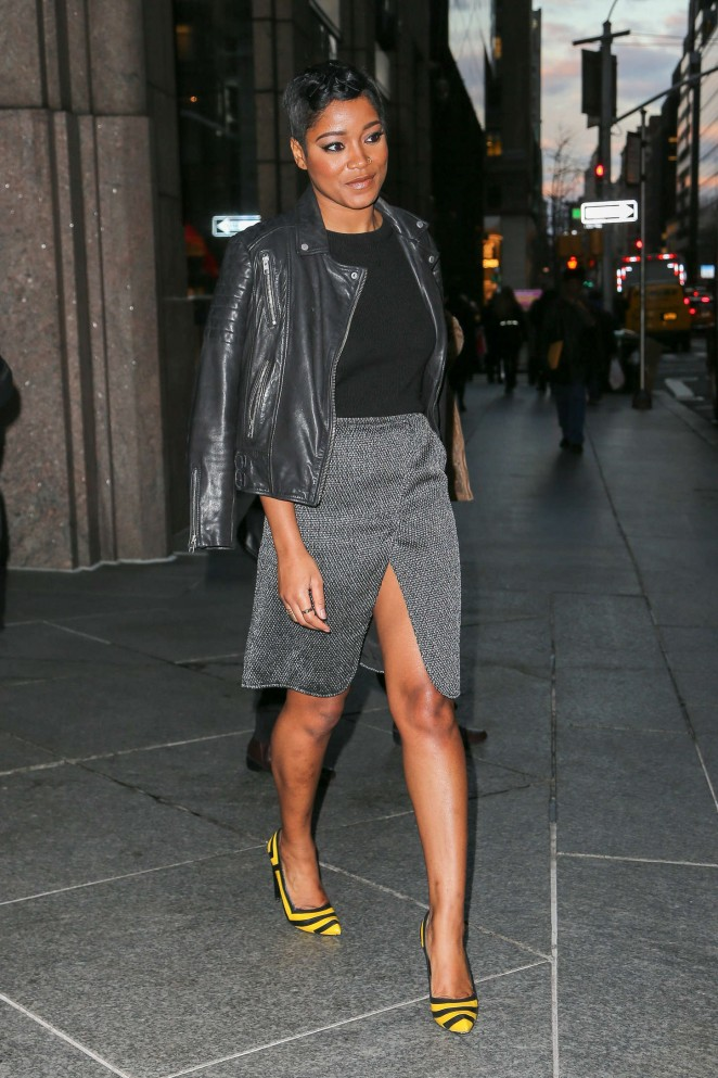 Keke Palmer in Mini Skirt Out in NYC