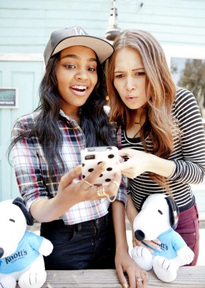 Kelli Berglund & China Anne McClain - Photoshoot for Bop and Tiger Beat - Knott's Berry Farm in Buena Par
