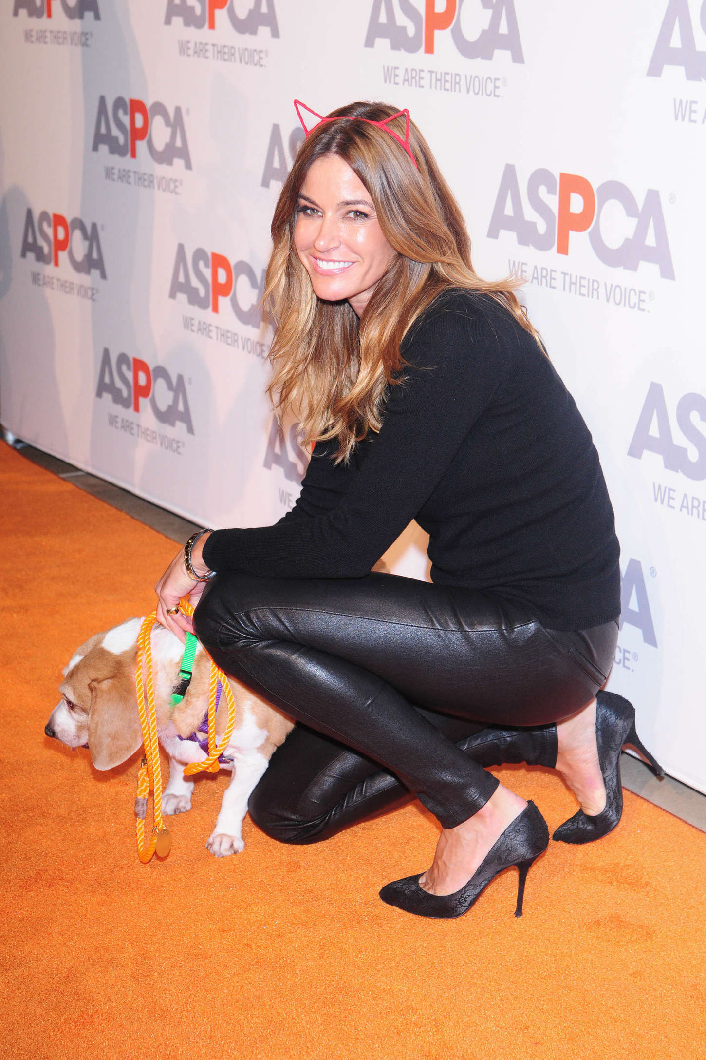 Kelly Bensimon in Leather at ASPCA Young Friends Benefit in New York City