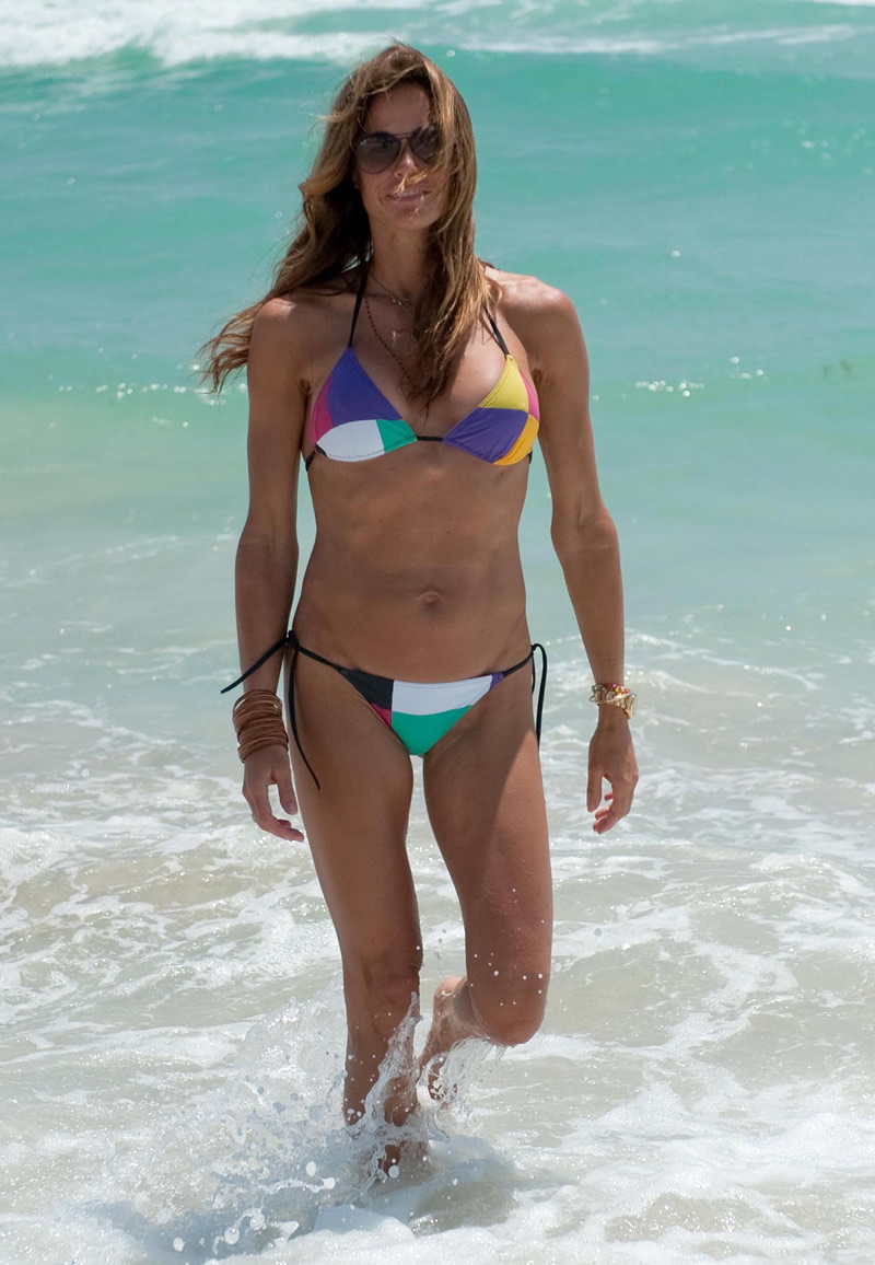 Kelly Bensimon in White Bikini in Miami Pic 6 of 35