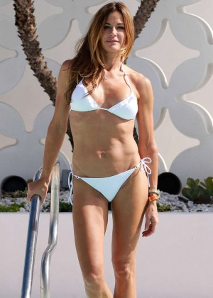 Kelly Bensimon in White Bikini in Miami Pic 33 of 35
