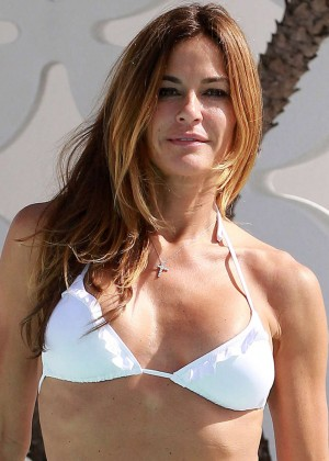 Kelly Bensimon in White Bikini  -02