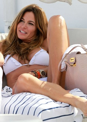 Kelly Bensimon in White Bikini  -04