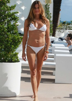Kelly Bensimon in White Bikini  -05