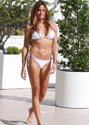 Kelly Bensimon in White Bikini  -08