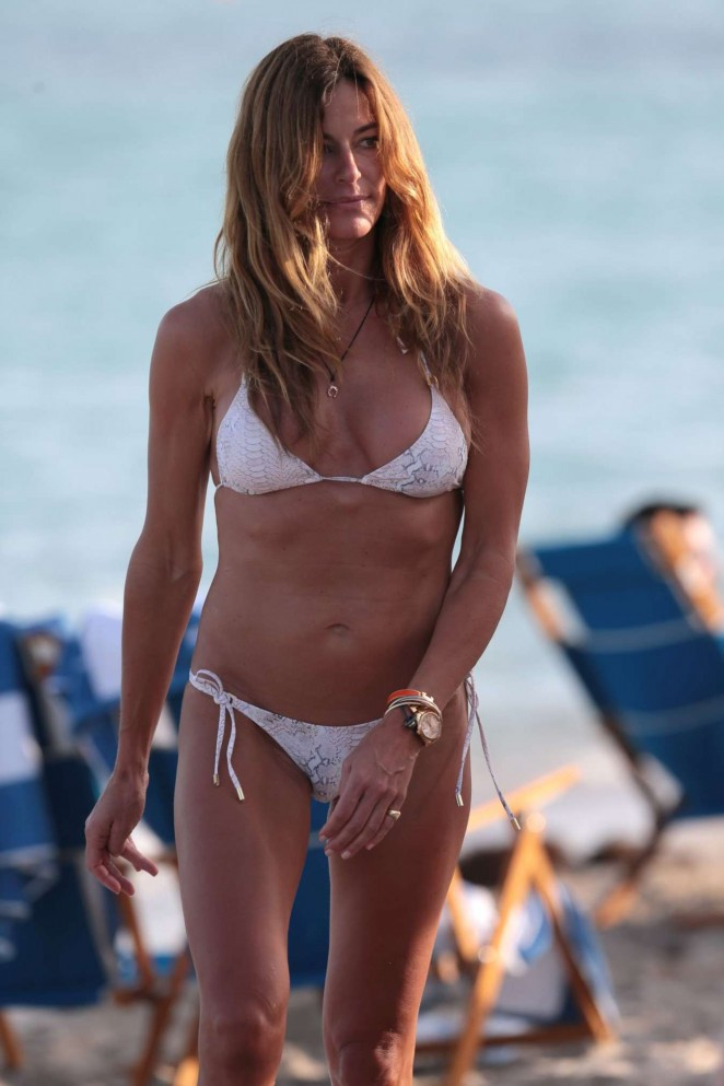 Kelly Bensimon in Bikini on Miami Beach