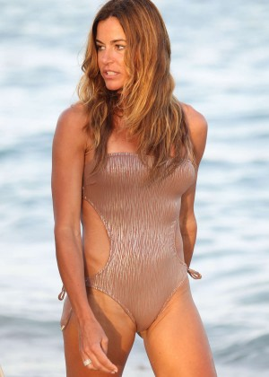 Kelly Bensimon in Swimsuit on Miami Beach