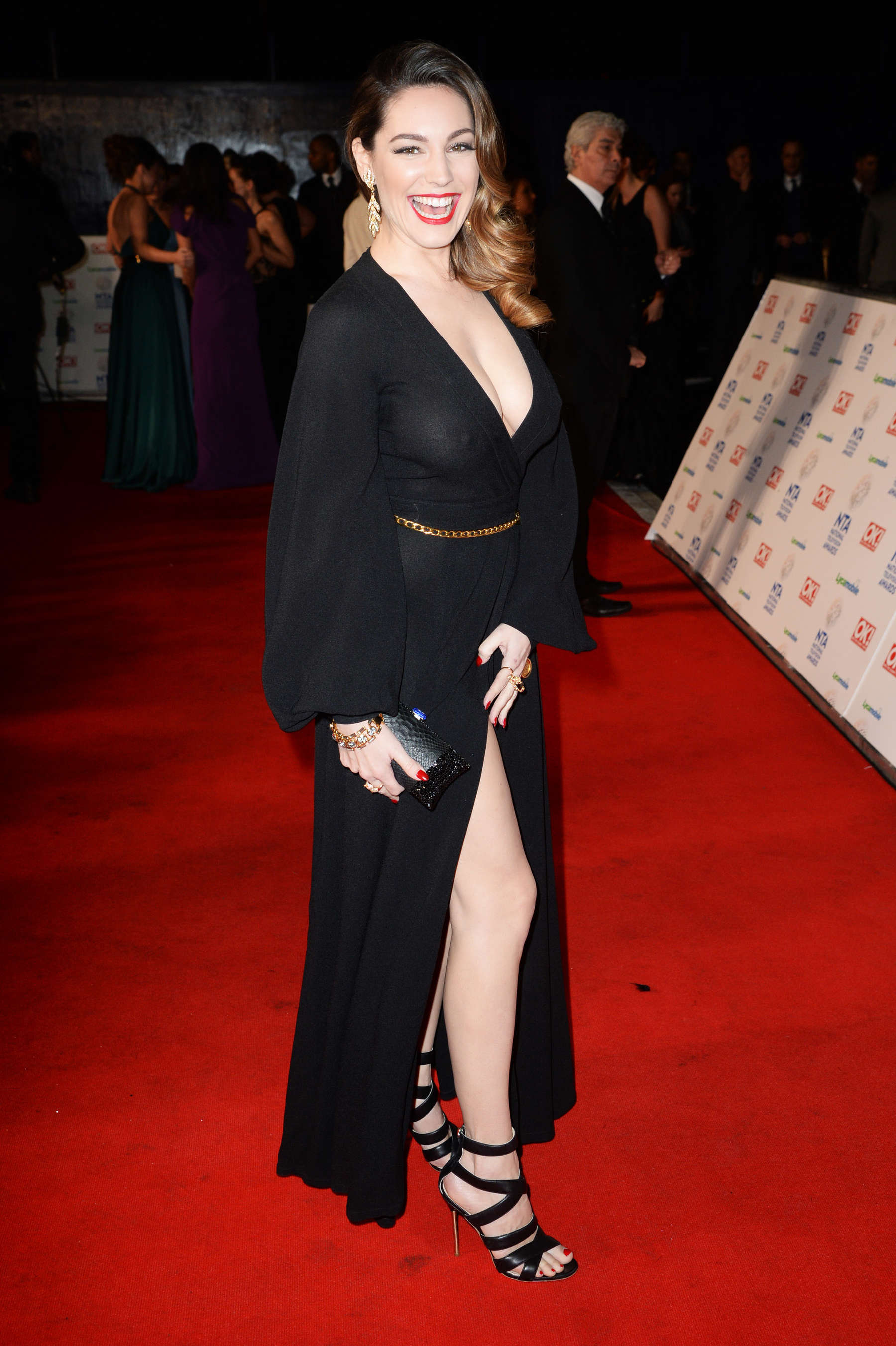 See Thru Tv See Through Kelly Brook National Television Awards In London