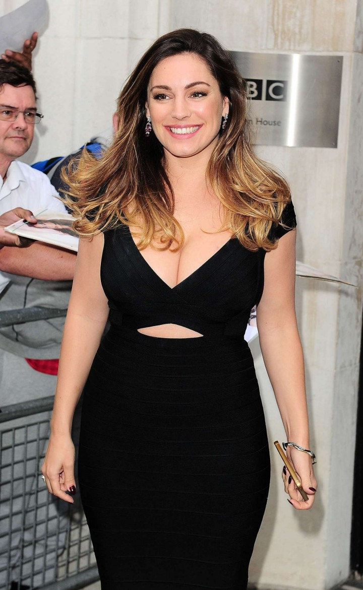 Kelly Brook - Arriving at BBC Radio Two London