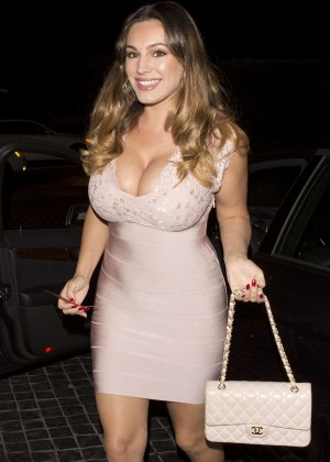 Kelly Brook in Tight Mini Dress at Cecconi's Restaurant in West Hollywood