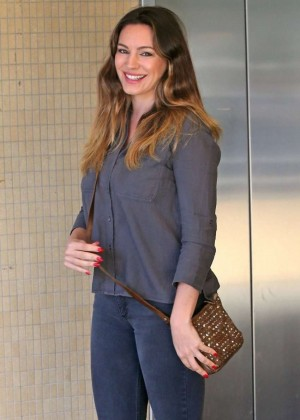 Kelly Brook in Jeans at LAX Airport in Los Angeles