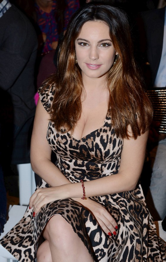 Kelly Brook Mark Fast SS 2013 show in London