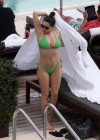 Kelly Brook - Bikini poolside in Miami -14